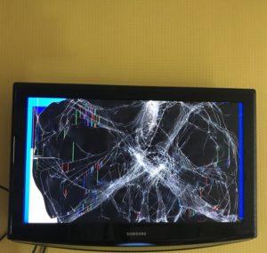 разбита матрица ЖК телевизора